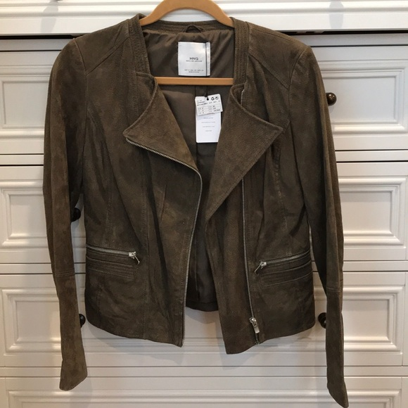 Mango Jackets Coats Genuine Leather Suede Jacket Poshmark